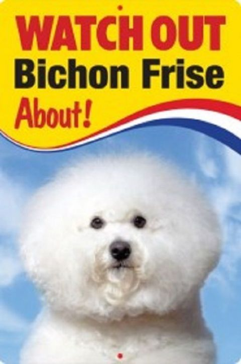 BICHON FRISE 3D  DOG SIGN